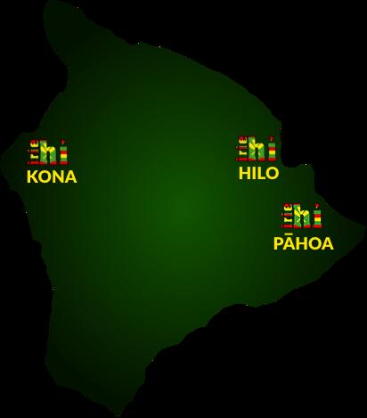 Visit Irie Hawaii Smoke Shops in Kona, Pahoa, and Hilo, Hawaii