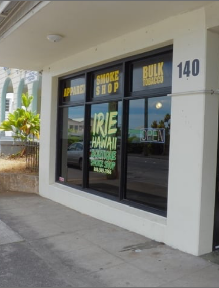 Visit smoke shops in Kona and Hilo, hawaii
